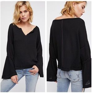 Free People | Dahlia Bell Sleeve Thermal Top XS